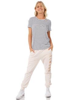 NAVY STRIPE WOMENS CLOTHING ELWOOD TEES - W83108-JF6
