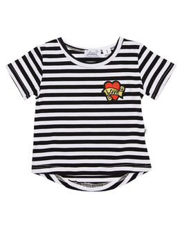 STRIPE KIDS TODDLER GIRLS KISSED BY RADICOOL TEES - KR0808STRP