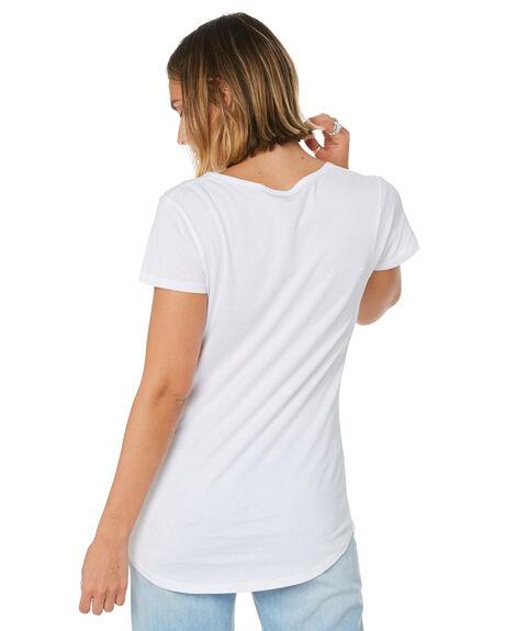 WHITE WOMENS CLOTHING AS COLOUR TEES - ASC4008WHI