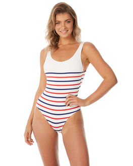 AMERICAN BRETON WOMENS SWIMWEAR SOLID AND STRIPED ONE PIECES - WS-1024-1426AMBRT