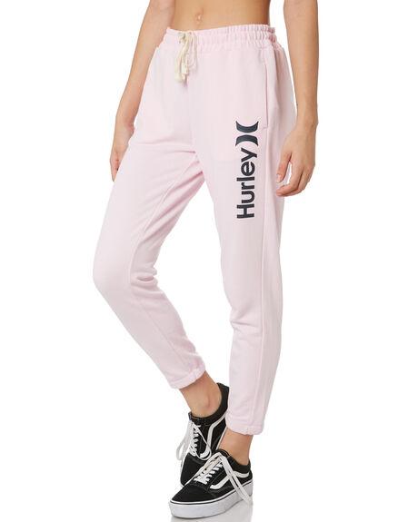 PINK FOAM BLACK WOMENS CLOTHING HURLEY PANTS - CW3264635