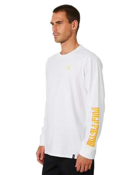 WHITE OUTLET MENS HUF TEES - TS01308-WHT