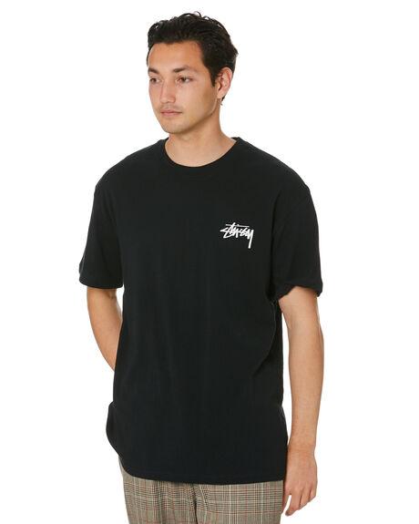 BLACK MENS CLOTHING STUSSY TEES - ST001003BLK