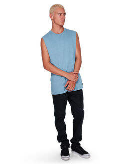 POWDER BLUE MENS CLOTHING BILLABONG SINGLETS - BB-9582506-P22