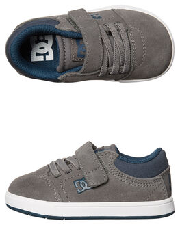 GREY KIDS TODDLER BOYS DC SHOES FOOTWEAR - ADTS100021GRY