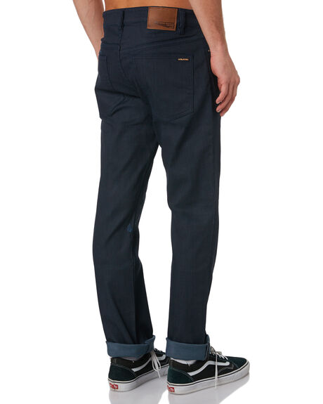 COATED INDIGO WASH MENS CLOTHING VOLCOM JEANS - A1931503CIW