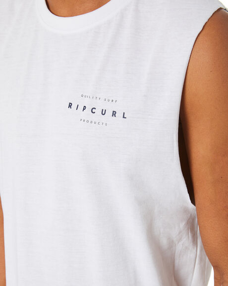 WHITE MENS CLOTHING RIP CURL SINGLETS - CTEPI91000