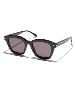 GLOSS BLACK SILVER MENS ACCESSORIES VALLEY SUNGLASSES - S0366GBLKS