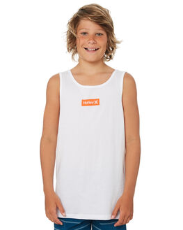 WHITE KIDS BOYS HURLEY TOPS - ABSIBSBXWHT