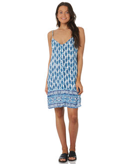 INK BLUE WOMENS CLOTHING RUSTY DRESSES - DRL0942IBE