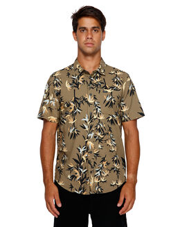 CADET GREEN MENS CLOTHING RVCA SHIRTS - RV-R391190-CDG