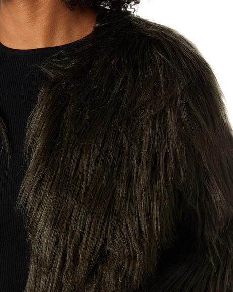 KHAKI WOMENS CLOTHING UNREAL FUR JACKETS - URF8026745-KHAKHK