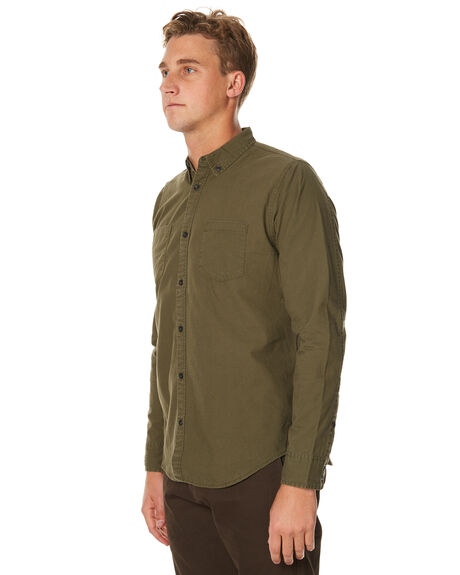 OLIVE MENS CLOTHING OURCASTE SHIRTS - W1031OLV