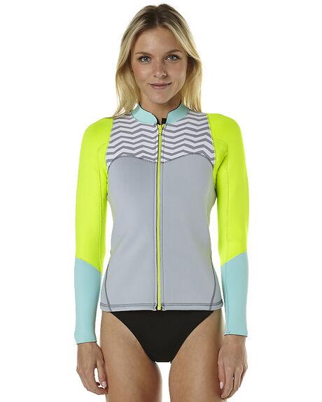 Roxy Xy 2Mm Front Zip Ls Wetsuit Jacket - Fog Blue Glacier  09a080537