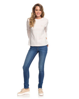 CAFE CREME WOMENS CLOTHING ROXY TEES - ERJZT04861-TJB5