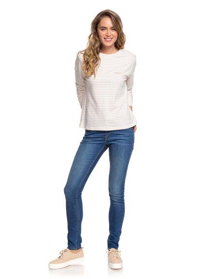 CAFE CREME WOMENS CLOTHING ROXY TEES - ERJZT04861-TJB5