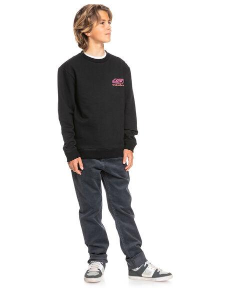 BLACK KIDS BOYS QUIKSILVER JUMPERS + JACKETS - EQBFT03729-KVJ0