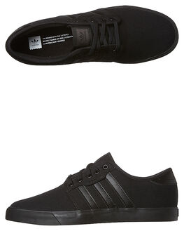 BLACK BLACK WOMENS FOOTWEAR ADIDAS ORIGINALS SNEAKERS - SSAQ8531BKBKW
