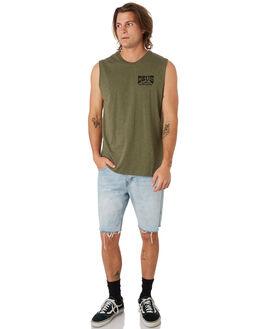 LEAF MARLE MENS CLOTHING DEUS EX MACHINA SINGLETS - DMP91152ALEAF