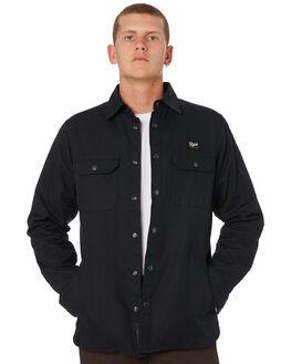 BLACK MENS CLOTHING DEUS EX MACHINA SHIRTS - DMW95107ABLK