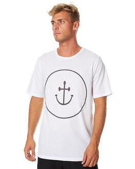 WHITE MENS CLOTHING INSTED WE SMILE TEES - IWST1702WHT