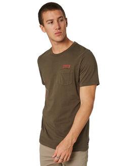 WASHED FATIGUE MENS CLOTHING GLOBE TEES - GB01810033WSF