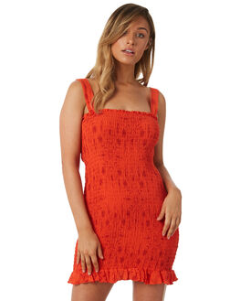 ORANGE WOMENS CLOTHING TIGERLILY DRESSES - T382407ORA