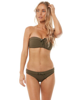 DARK OLIVE WOMENS SWIMWEAR SEAFOLLY BIKINI TOPS - 30951-165DKOLV