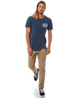 NAVY MENS CLOTHING DEUS EX MACHINA TEES - DMW41808CNVY