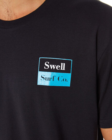 BLACK MENS CLOTHING SWELL TEES - S5202008BLACK