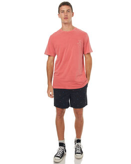RED MENS CLOTHING RVCA TEES - R172059RED