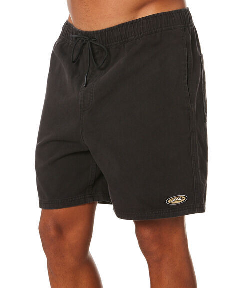 BLACK MENS CLOTHING RUSTY SHORTS - WKM1049BLK