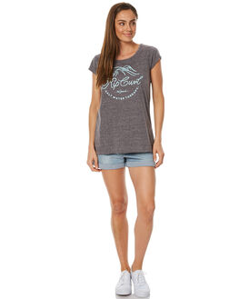 NINE IRON WOMENS CLOTHING RIP CURL TEES - GTESG1GRY