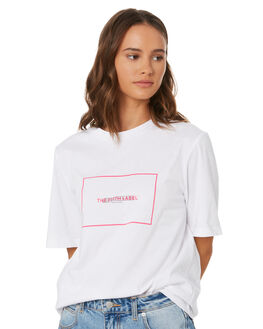 WHITE WITH PINK WOMENS CLOTHING THE FIFTH LABEL TEES - 40191071-8WHI