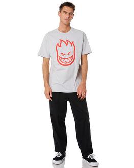 SILVER MENS CLOTHING SPITFIRE TEES - 51010001DLSLVR