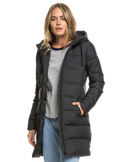 TRUE BLACK WOMENS CLOTHING ROXY JACKETS - ERJJK03274-KVJ0
