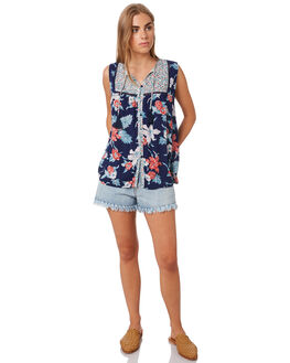 ISLAND TROPICAL WOMENS CLOTHING SWELL FASHION TOPS - S8202012ISTRP
