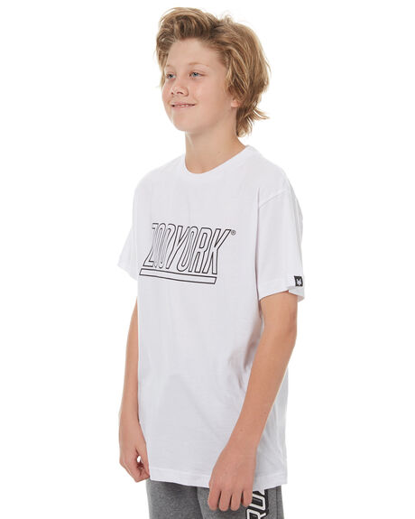 WHITE KIDS BOYS ZOO YORK TEES - ZY-YTC7129WHI