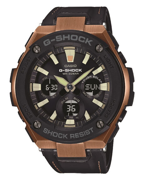BLACK GOLD MENS ACCESSORIES G SHOCK WATCHES - GSTS120L-1ABLKGD