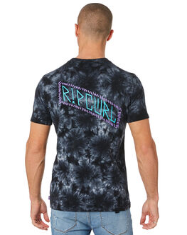 BLACK MENS CLOTHING RIP CURL TEES - CTELD90090