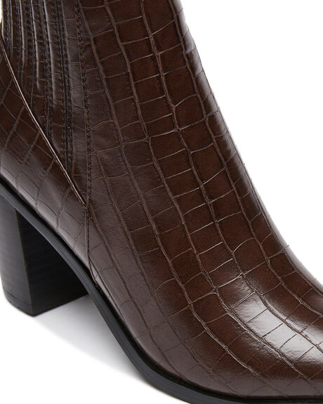 CHOCOLATE CROC WOMENS FOOTWEAR BILLINI BOOTS - B1004CCROC