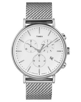 SILVER MESH MENS ACCESSORIES TIMEX WATCHES - TW2R27100SILM