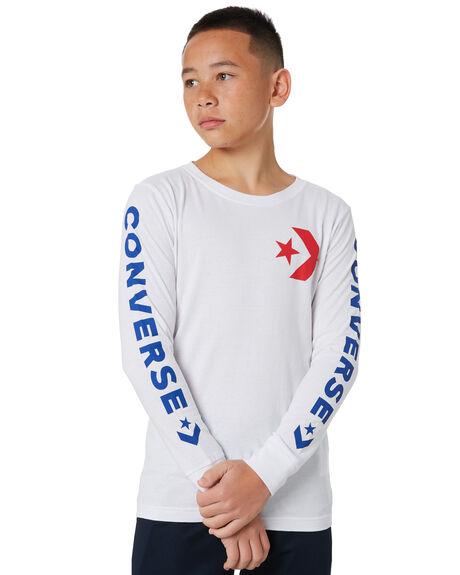WHITE KIDS BOYS CONVERSE TOPS - R96A020001
