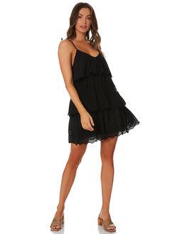 BLACK WOMENS CLOTHING TIGERLILY DRESSES - T392456BLK