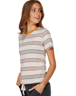 MULTI WOMENS CLOTHING BILLABONG TEES - BB-6591139-MUL