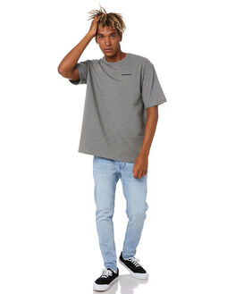 GRAVEL HEATHER MENS CLOTHING PATAGONIA TEES - 38504GLH