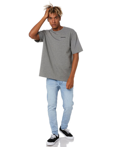 GRAVEL HEATHER MENS CLOTHING PATAGONIA TEES - 38504GLH