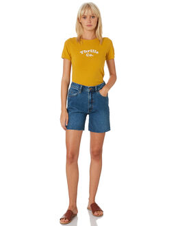 SUNLIGHT YELLOW WOMENS CLOTHING THRILLS TEES - WTH9-123KSUNYE