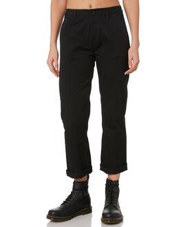 BLACK WOMENS CLOTHING BRIXTON PANTS - 04139BLACK