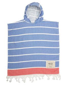 BLUE RED KIDS TODDLER BOYS MAYDE TOWELS - 16SHELRBRBLRD